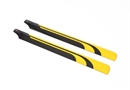 Century UK KDS 450 Q QS SV Carbon Main Blades, Black And Yellow 325mm