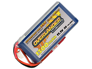 Overlander 11.1v 1300mAh Li-Po Battery 35C Supersport