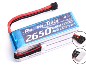 Century UK PowerTech 2650 33c 6s 22.2v Li-Po battery