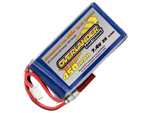 Overlander 450mAh 7.4v 35c LiPo Battery - Supersport Pro