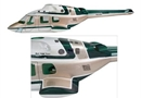 Bell 222 30 Fuselage (Painted Green)