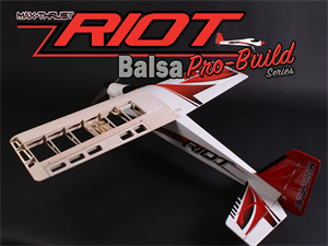 Max Thrust Pro-Built Balsa Riot Kit Uncovered - IC or Elec