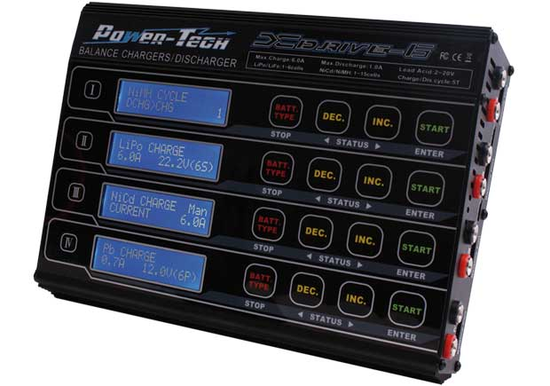 Century UK Power-Tech XDrive 6 Multi Function Quad Balance Charger