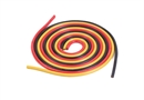 Century UK 1000MM Silica Wire 12AWG 4MM Red, Black And Yellow